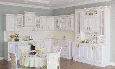 Варианты оформления белой кухни